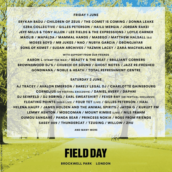Field Day 2018 - uk rnb soul music festivals