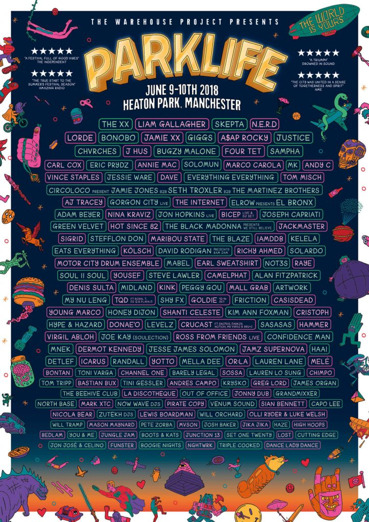 parklife 2018 - uk rnb soul music festivals